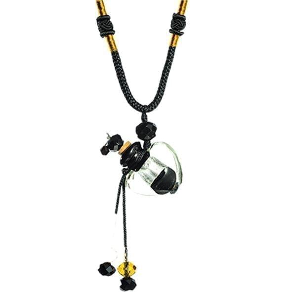 collier diffuseur huile essentielle Cœur Onyx