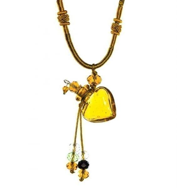 collier diffuseur huile essentielle Coeur Ambre