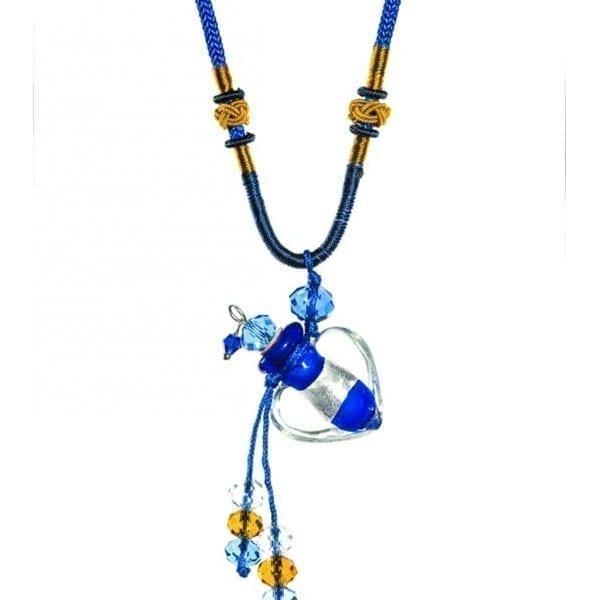 collier diffuseur huile essentielle Coeur Saphir