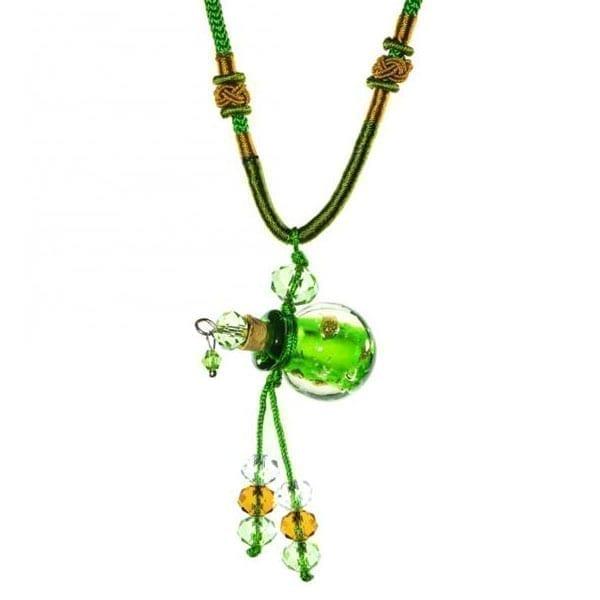 collier diffuseur huile essentielle Perle Emeraude