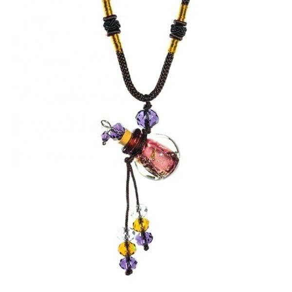 collier diffuseur huile essentielle Perle Rubis