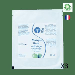 Masque tissu anti-âge produits cosmétiques naturels