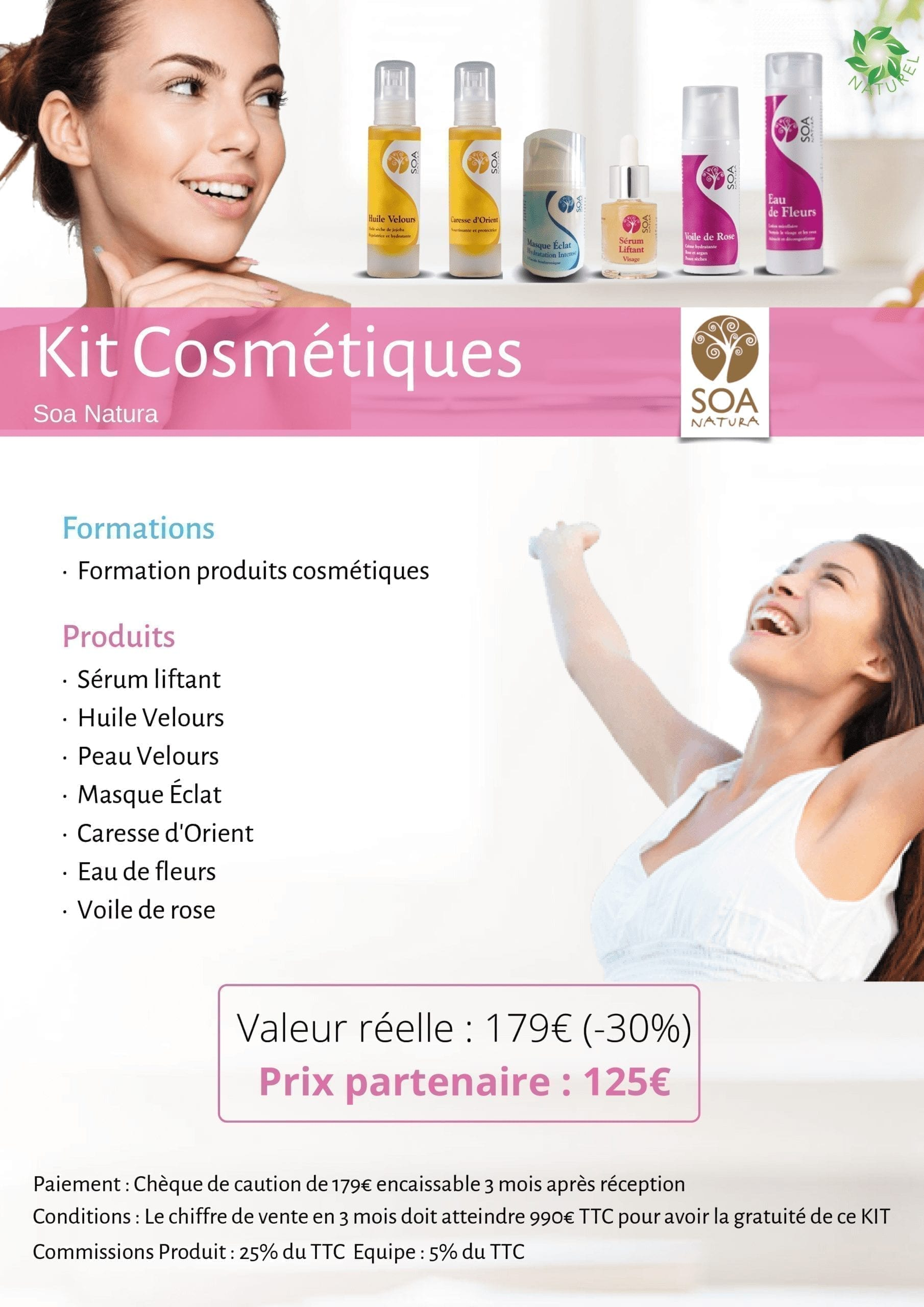 Kit cosmétiques naturels